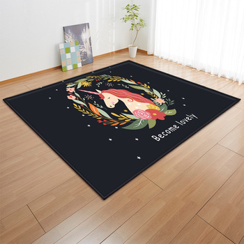 Cartoon Rainbow Unicorn Carpets