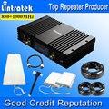 70dbi Poderosa 2G 3G Repetidor de Señal de Teléfono Celular GSM 850/GSM 1900/UMTS 850/UMTS 1900 Dual Band Booster de Señal Kits para Grandes zona