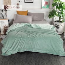 Liv-Esthete Green Thick Sherpa Throw Blanket Weighted Flannel Fleece Blanket Queen King Adult All Season For Bed Or Couch 1PCS цена