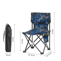 Outdoor Furniture Fishing chair Camping Folding Chair with Oxford Cloth for Garden,Beach chair Backrest picnic for family travel