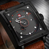 NAVIFORCE Luxury Brand Watches Men Fashion Casual Leather Quartz Wristwatches Date Waterproof Sport Clock Man Relogio