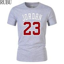 b33e3aa64 RUBU Gorąca Sprzedaż Jordan 23 T Koszula Lato Casual Streetwear 100%  Bawełniana Koszulka Luźne Mężczyźni Jersey Rozmiar S-XXL Do.