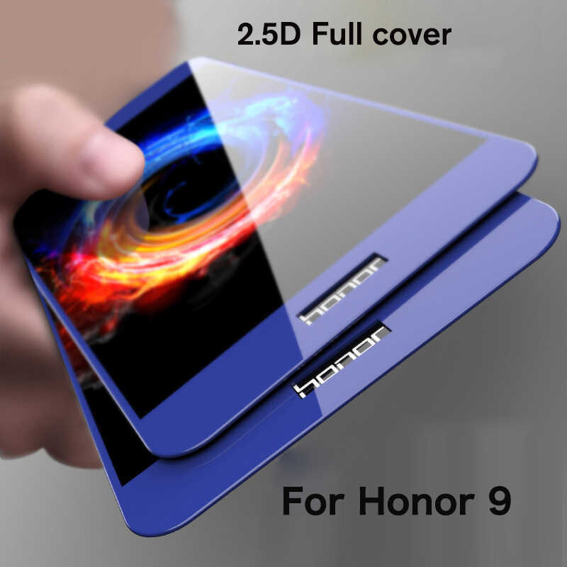 For Huawei Honor 9 Tempered Glass Screen Protector Glass Film on Honor 9 2.5D Full Cover Curved Edge Glass Film for Honor 9