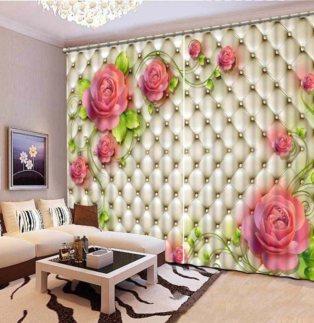 European soft bag pattern 3D Blackout Curtains For Living room Bedroom home kitchen products Customize 3D Curtain The New
