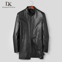 Men Genuine Leather Jacket Real Cow skin Jackets Casual Black Pockets 2019 Autumn New Jacket for Man t1932