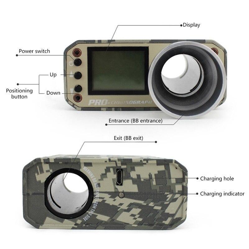 Camouflage chasse Airsoft BB tir chronographe testeur de vitesse accessoires de chasse - 3