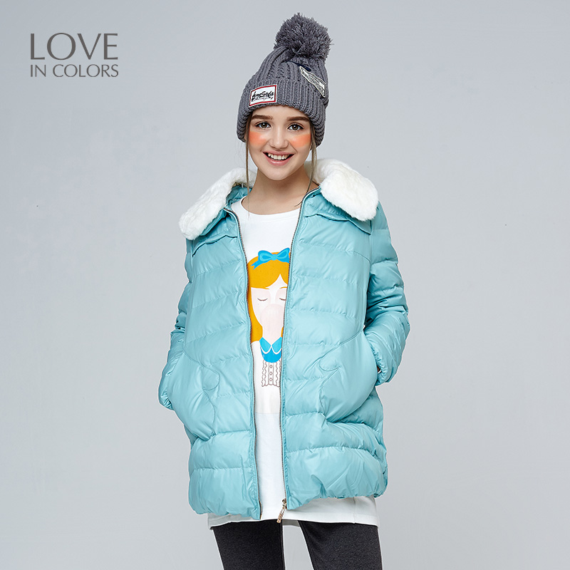 New Fashion Maternity Down Jackets Coats Fur collar Women Warm Winter Cute Pocket Soft Solid Pregnancy Outerwear
