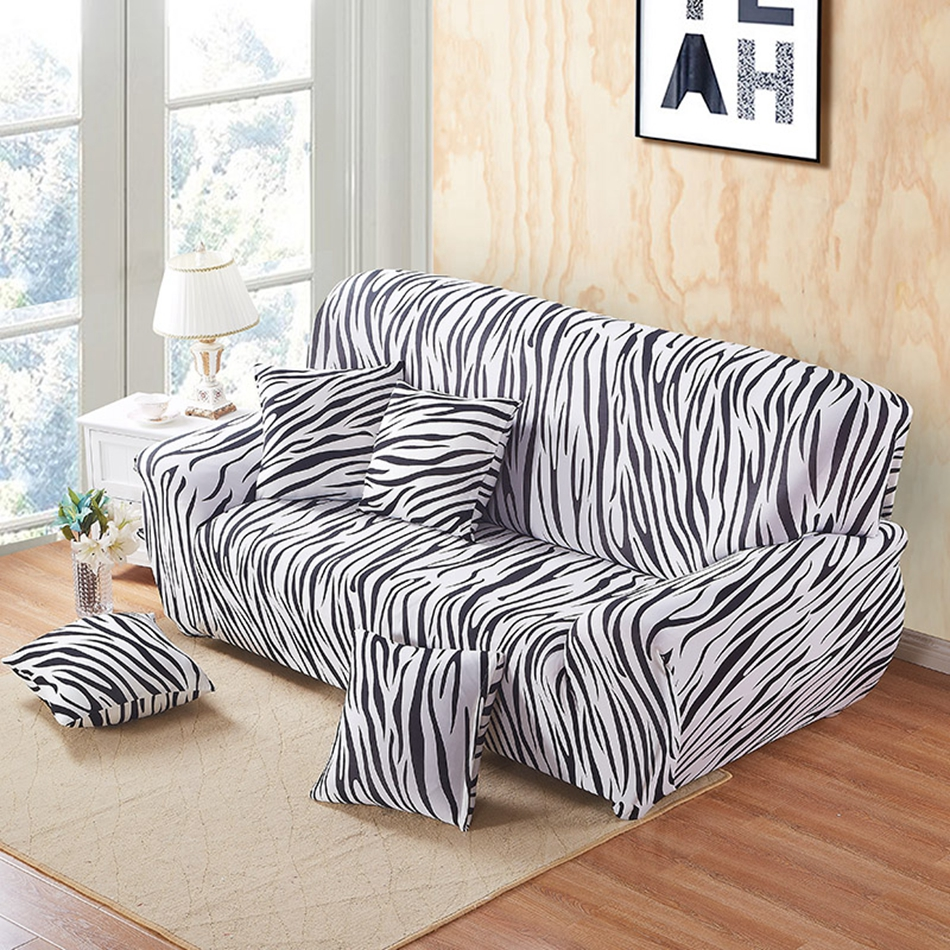 Stripe Universal Sofa Cover Polyester Couch Sectional Sofa