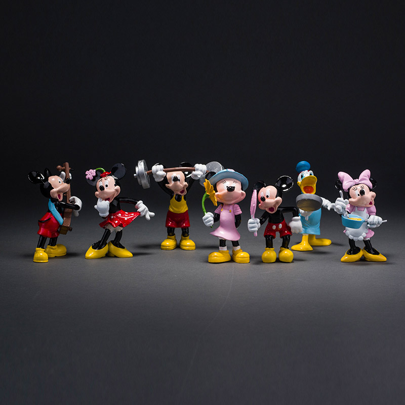 Anime Mickey Mouse Minnie Mouse Donald Duck 1/10 Scale PVC Action Figure Toys Kid's Gift Dolls For Children 8cm KT1342