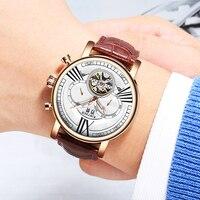 Kinyued marca superior esqueleto relógio automático masculino tourbillon mecânica relógios à prova dwaterproof água esportes militar horloges mannen dropship|Relógios mecânicos|   -