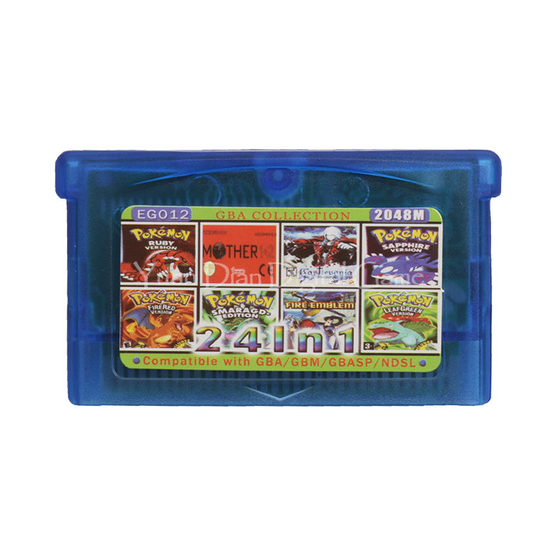 Nintendo GBA Video Game Cartridge Console Card Collection English Language EG012 24 in 1 nintendo gba gaame pokemons collective edition video game cartridge console card for game boy advance english version