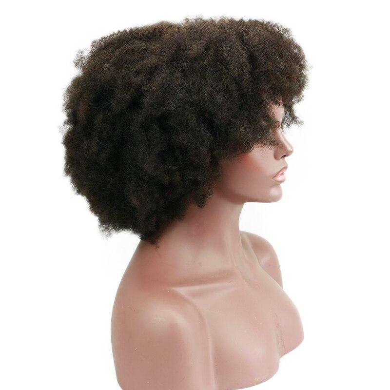 Eseewigs спиральные афро кудрявые кружевные передние парики 180% монгольские Remy человеческие волосы без клея кружевные передние парики черные ж... - 4