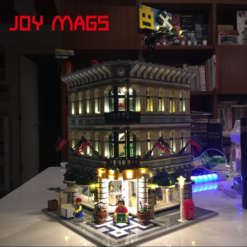 JOY MAGS Membawa Kit Lampu Cahaya Dipimpin Untuk Pencipta Grand Emporium 15005 Sesuai Dengan Lego 10211 Tidak Termasuk Model Bangunan