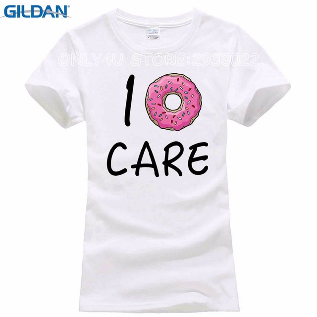 043b143c1 2017 Hot Summer Women T-shirt I Donut CARE Letter T Shirt Funny Print Tees  Couple Tops
