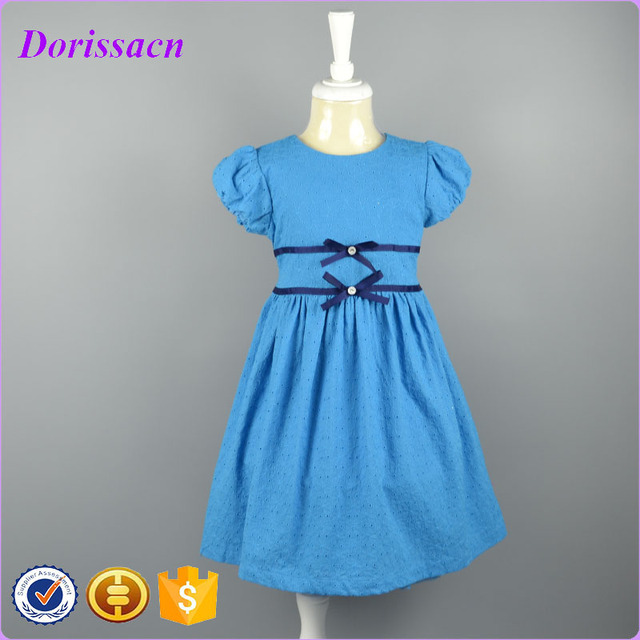 Princess Toddler Girl Formal Dress With Bow Cotton Baby Girl Summer