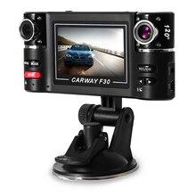 F30 Двойной объектив 2,7 дюймов Авто видеокамеры Видеорегистраторы для автомобилей Камера HD лобового стекла вождения Регистраторы
