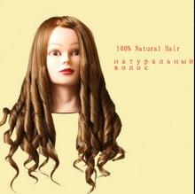 """Neuankömmling Mannequinkopf 24 """"100% Blonde Natural Hair Ausbildung Kopf Für Schönheitssalon Akademie Professional Hair Styling Kopf"""
