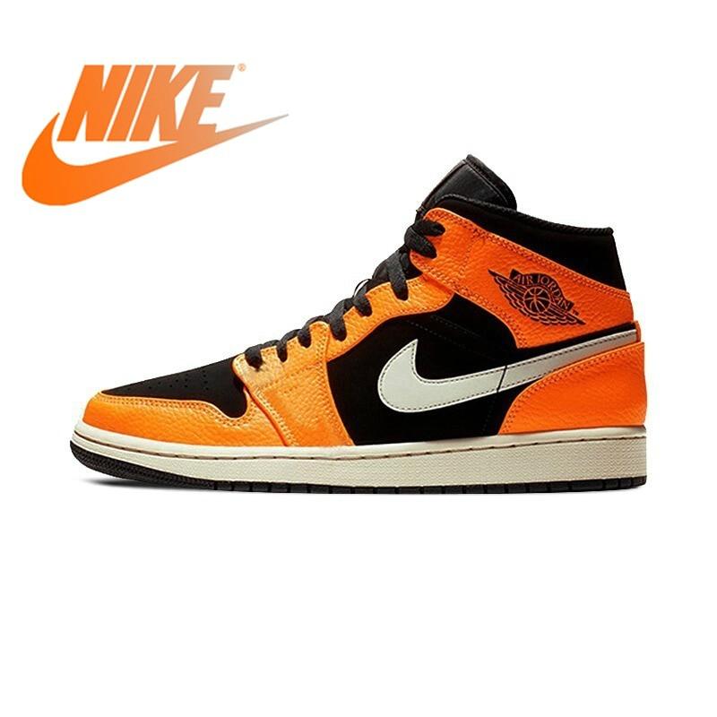 Original 2018 NIKE AJ1 Men's Basketball Shoes Sneakers Air Jordan High Cut Breathable Comfortable Lace-up Sports Shoes 554724