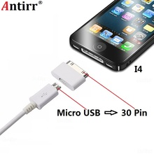 Adapter Converter Micro USB Cable to 30 Pin Adapter Converter Android Phone 30pin Connector Data Sync Charger For iPhone 4 4s 4G 3GS For iPad iPod