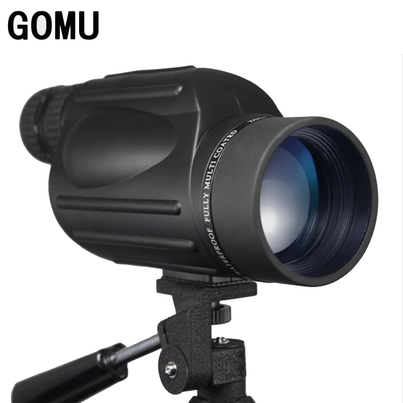 Gomu 10-30X50 HD Zooming Waterproof Telescope With Bak4 Prism FMC Monocular Telescope Brid Watch Binoculars For Hunting mabaiwan black genuine leather men shoes dress wedding male brogue shoes men lace up oxfords prom slipper business formal flats