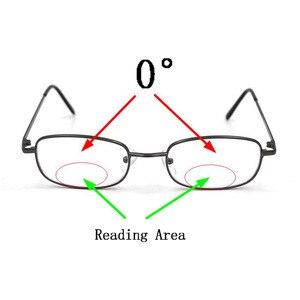 Image 2 - Thông minh Photochromic Hai Tròng Kính Đọc Sách Kim Loại Khung Unisex Đầu Đọc Kính Mát Cái Nhìn Gần Xa Presbyopic Kính Gafas
