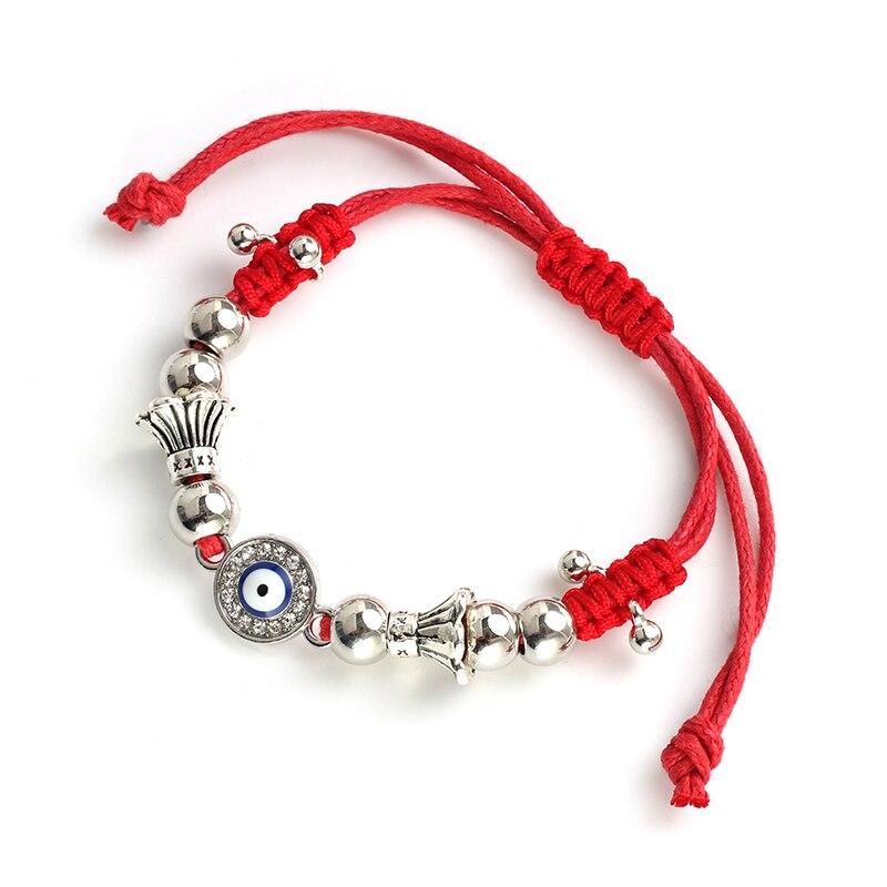 Blue Evil Eye Charm Bracelets For Women Men Lucky Red String Rope Chain Adjustable Bracelets Fashion