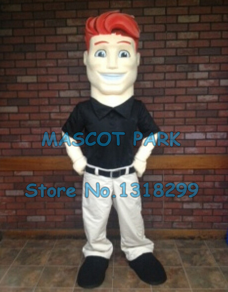 mascot red hair man mascot costume customizable cartoon mascot costume anime costumes fancy dress kits suit