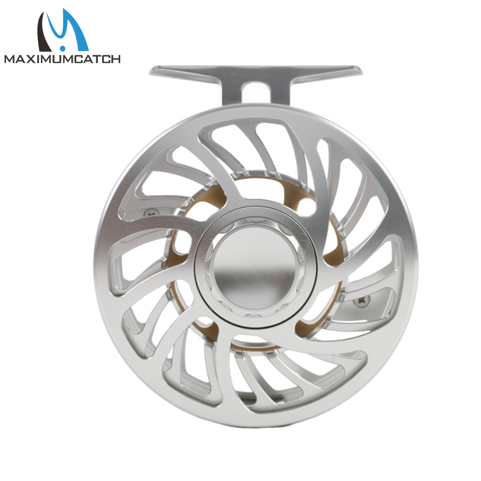 Maximumcatch 100% Waterproof Saltwater 5-12wt Large Arbor Fly Reel Multi-Disc T6061 Aluminium Silver Fly Fishing Reel maximumcatch hvc 7 8 weight exclusive super light fly reel chinese cnc fly fishing reel large arbor aluminum fly reel