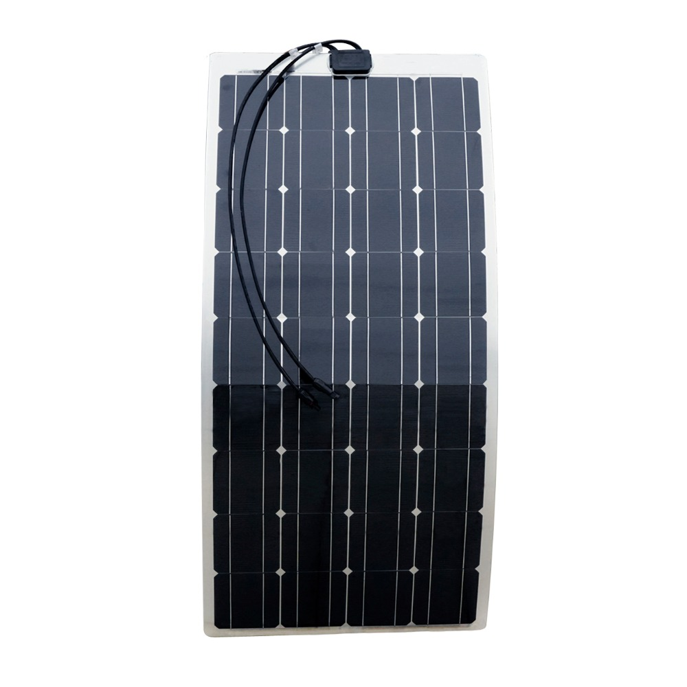 100w Semi Flexible Solar Panels 100watt Portable Mono Solar Modules with 15A Solar Charger Controller Solar Generator100w Semi Flexible Solar Panels 100watt Portable Mono Solar Modules with 15A Solar Charger Controller Solar Generator