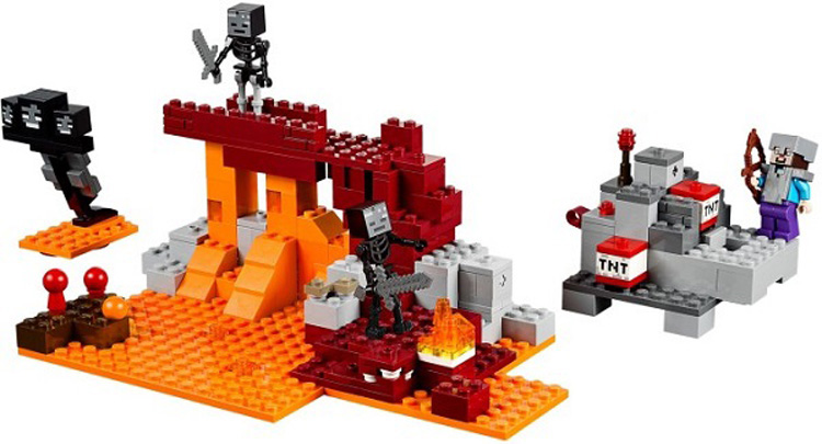 цена children toy CHINA BRAND 18004 self-locking bricks Compatible with Lego The Wither 21126 without original box