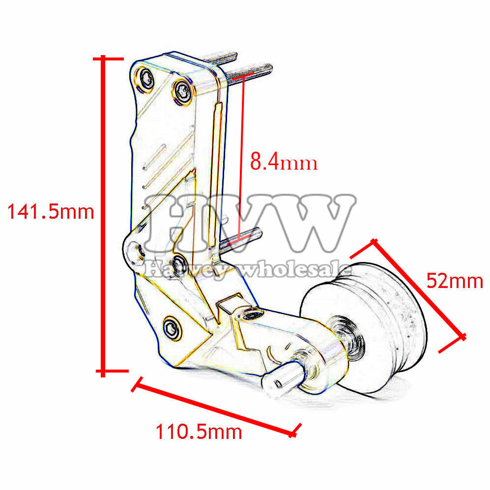 Universal aluminum Adjustable Conversion Motorcycle Chain Tensioner For  Buell XB12Scg X1 Lightning M2 Cyclone CAN-AM dropship