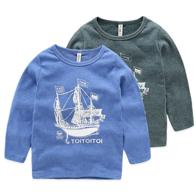 Kids Tops Boys Tees Child Clothing Children T-shirts for Baby Boys Long Sleeve T Shirts Cotton Children's Tops for 3-10yrs