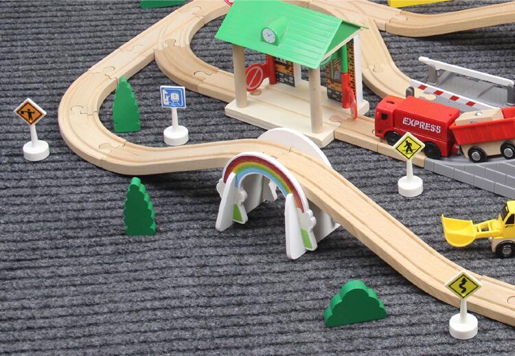 EDWONE -White Rainbow Bridge Track S Track Thoma S Train Slot Railway Accessories Original Toy Kids Xmas Gifts FIT   BIRO