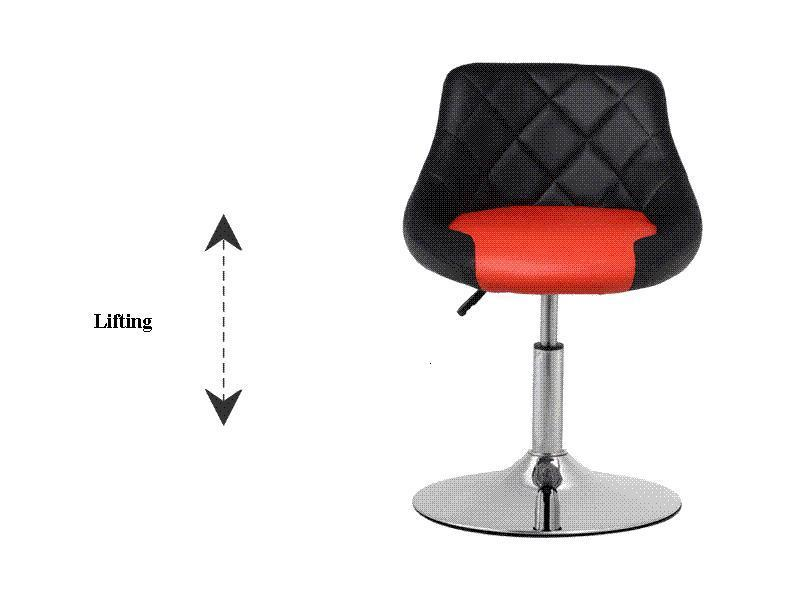black red white coffee chair free shipping fashion pop stool white red black bar chair coffee house stool free shipping