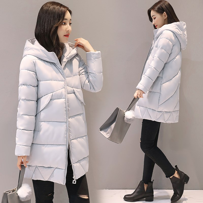 2017 Women Jackets Winter Parkas Female Warm Thicken Middle-Long Hooded Jacket Coat Cotton Padded Parkas Coat M-XXL winter jacket female parkas hooded fur collar long down cotton jacket thicken warm cotton padded women coat plus size 3xl k450