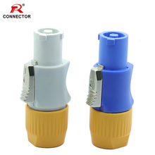 1pc Waterproof IP65 PowerCon Connector 3Pins NAC3FCA Male Plug Cable Powercon 250V Blue Grey Color