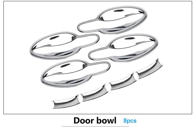 Chromium Styling Side Door Handle Bowl Covers Trim