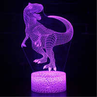 Dinosaur theme mark 3D Lamp Game LED night light 7 Color Change Touch Mood Lamp Dropship