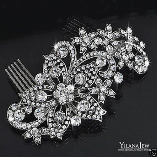 2016 New Sparkly Rhinestones Wedding Bridal Hair Comb Jewelry Crystal women Hair Accessories In Stock Girls