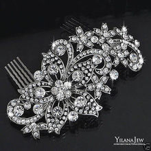 2016 New Sparkly Rhinestones Wedding Bridal Hair Comb Jewelry Crystal women Hair Accessories In Stock Girls Prom Headwear
