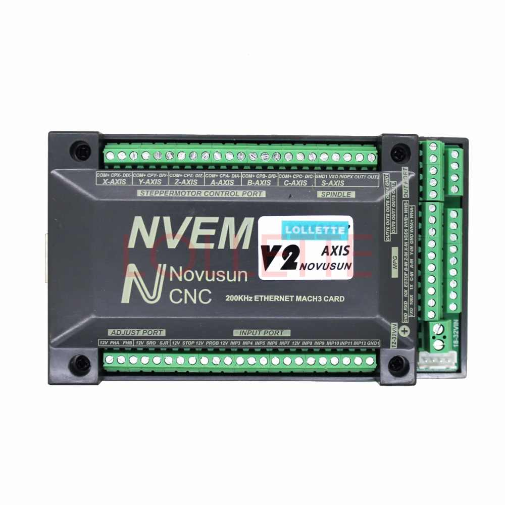 NVEM V2 6-Axis version CNC Controller 300KHZ Ethernet MACH3 Motion Control  Card for Stepper Motor