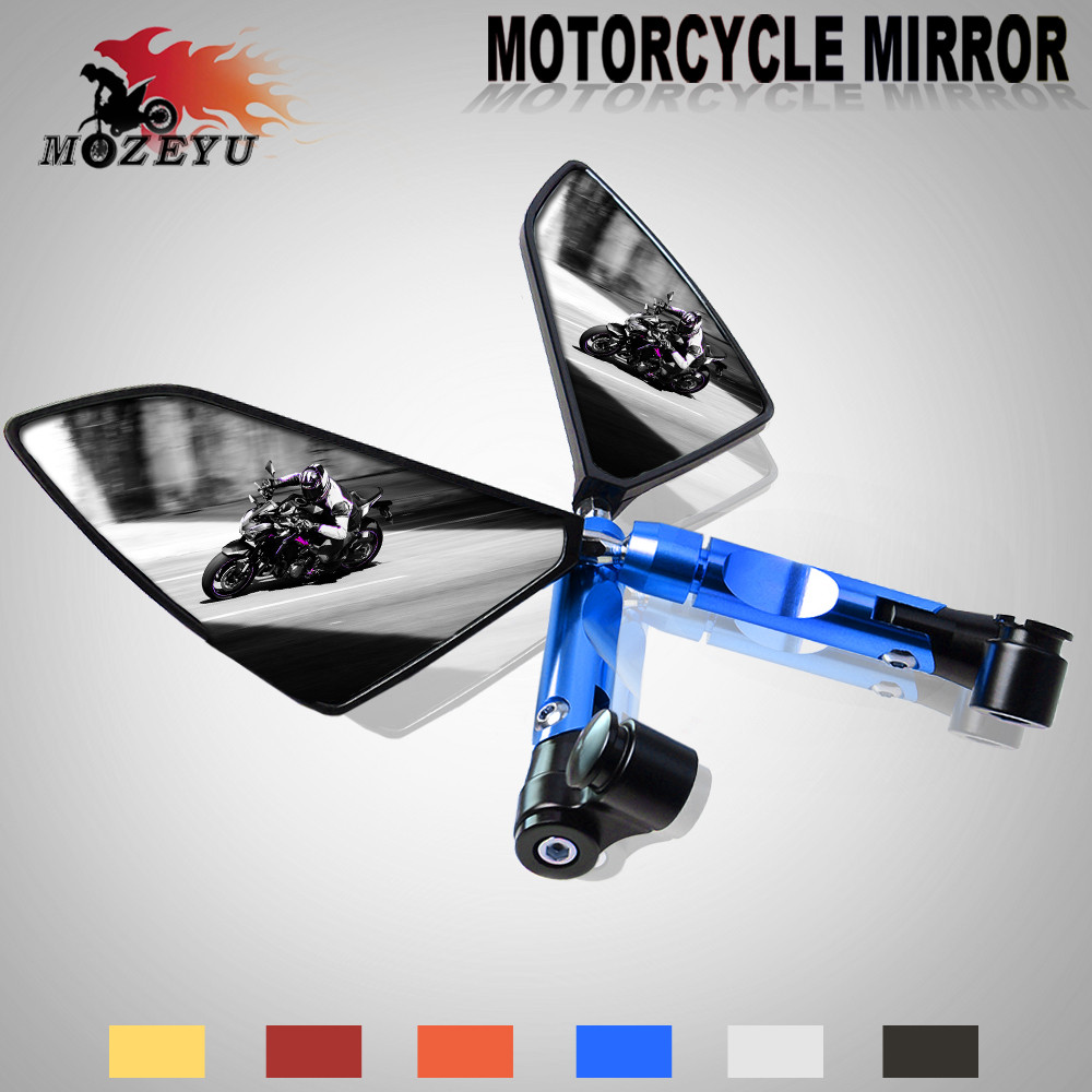 CNC Universal Motorcycle Side Mirror Rearview Side Mirror For Yamaha MT 07 MT 09 MT 07 09 FZ 07 FZ1 FZ6 FZ 09 MT07 09 Tracer