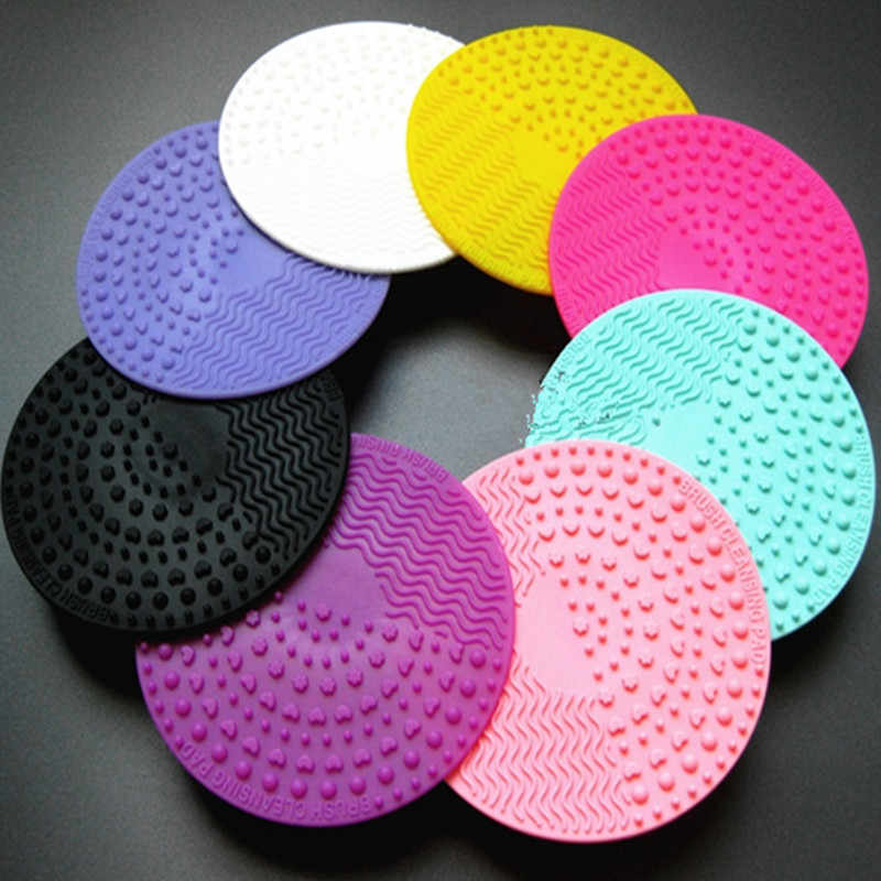 1PC Silicone Makeup Brush Cleansing Pad Palette Brush Cleaner Cleaning Mat Washing Scrubber Pad Cosmetic Make Up Cleaner Tools
