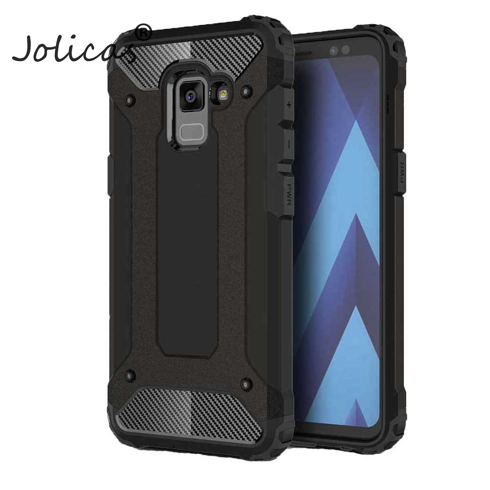 Back Armor For Samsung Galaxy A8 Plus 2018 A3 A5 A7 J5 2017 J7 Prime S8 S9 Plus Case Cover Dirt Resistant Phone Cases galie