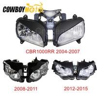 Motorcycle Clear Lens Headlight Head Light Lamp Assembly Housing Kit For Honda CBR1000RR 2004 2007 2008 2011 2012 2015