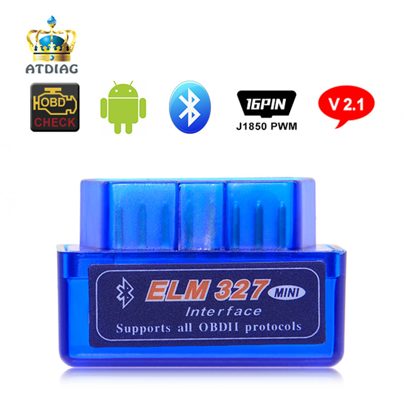 10pcs Elm327 Bluetooth OBD2 V2.1 Android Adapter Car Scanner OBD 2 Auto Diagnostic Tool Scanner(China)