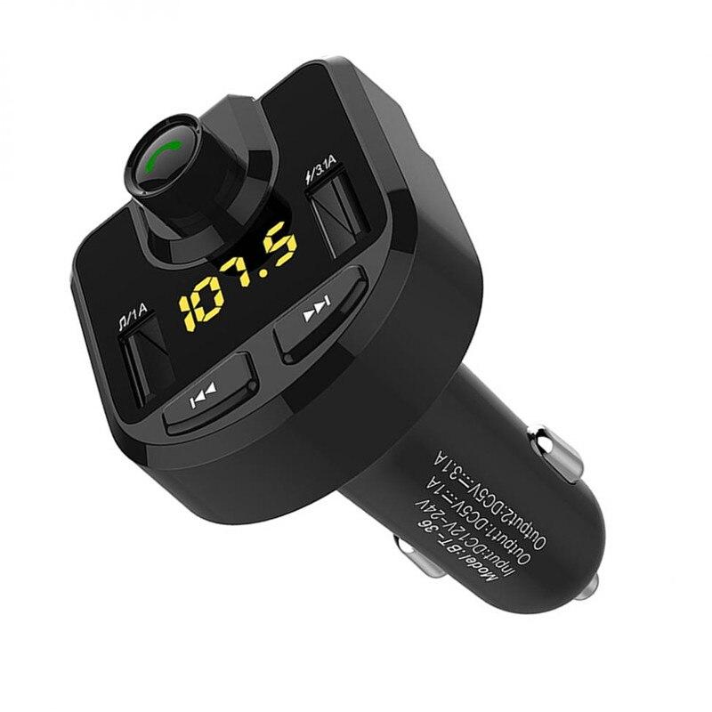 Alta qualidade BT36 Dual USB Auto Kit MP3 Player Do Carro Do Bluetooth Kit Mãos Livres Bluetooth Carro Multifuncional Carregador Do Telefone Móvel