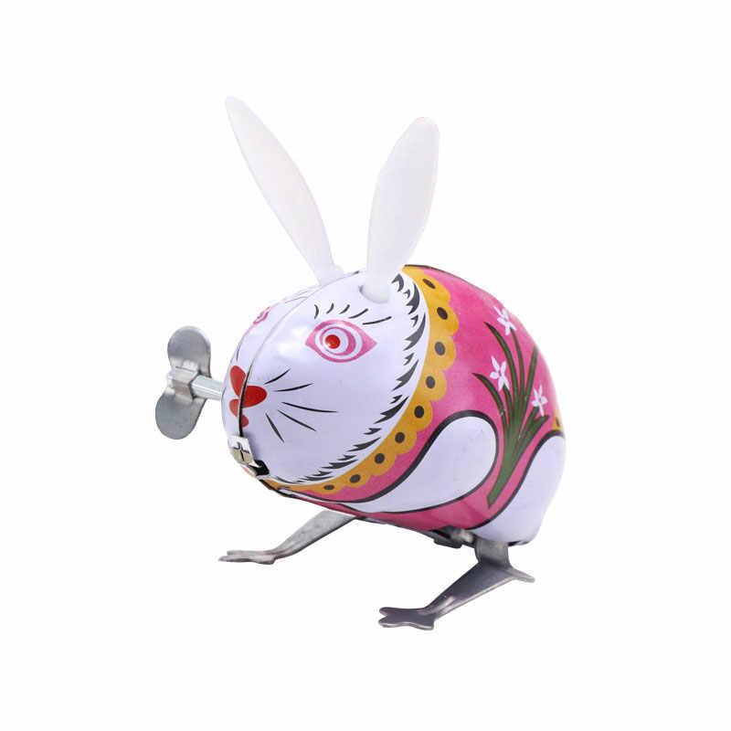 Tin Toy Wind Up Clockwork Brinquedos ASSOT Crianças Clássico Pulando Sapo Ferro Galo Brinquedo Figuras De Ação Toy ChildrenToy