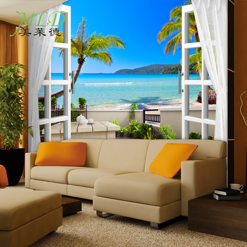 3D stereoscopic large mural custom wall paper the living room backdrop bedroom fabric wallpaper murals 3D visual fake window