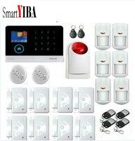 SmartYIBA приложение Управление Беспроводной 3g SMS охранной сигнализации Системы красная вспышка Сирена дыма огонь Сенсор для дома GPRS Alarmes Набор